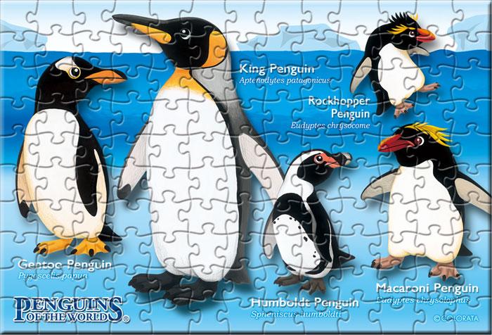 ペンギン 130ピース ポストカードサイズ ミュージアム ジグソーパズル