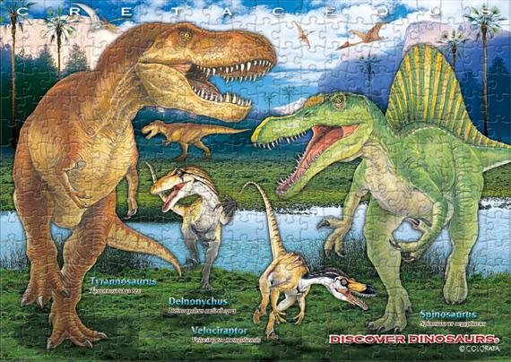 白亜紀の恐竜/B5サイズ・330ピース リアルジグソーパズル
