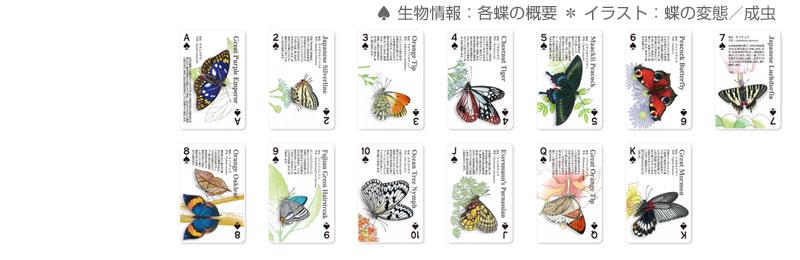 スペードのカードの表