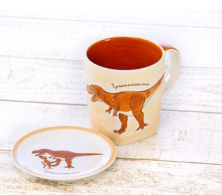 ティラノサウルスの同じイラストマグカップ