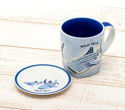 ジンベエザメの同じイラストマグカップ