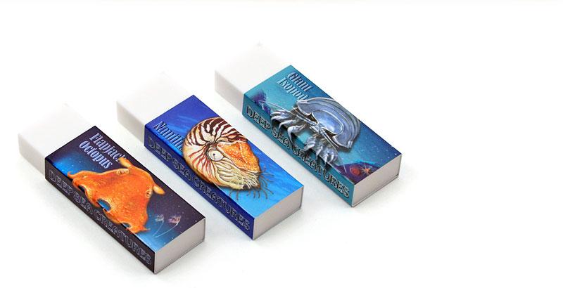 消しゴム3個セット 深海生物