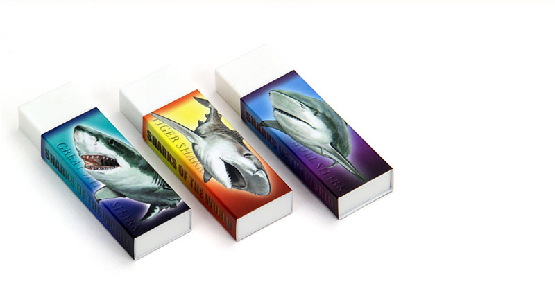 消しゴム3個セット ホホジロザメ