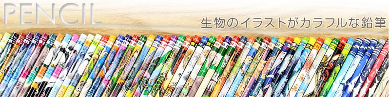 生物のイラストがカラフルな鉛筆