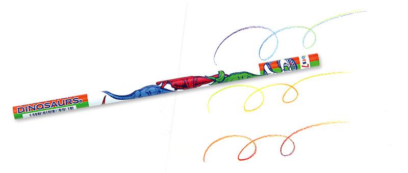 7色カラー鉛筆 恐竜
