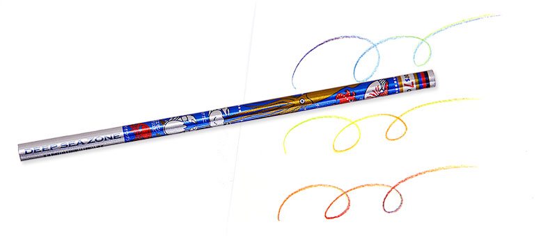 7色カラー鉛筆 深海生物