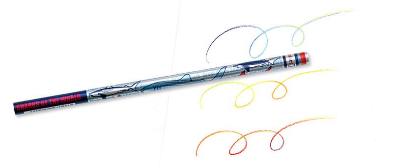 7色カラー鉛筆 シャーク