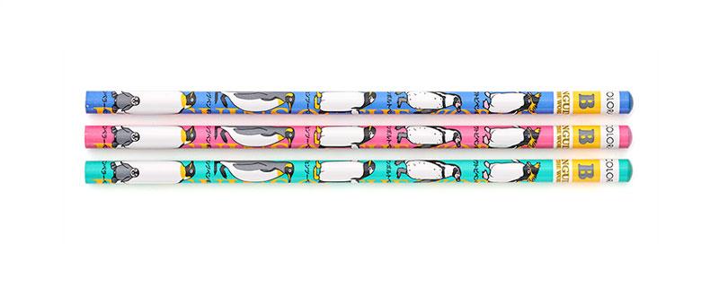 かきかた鉛筆3本セットB ペンギン