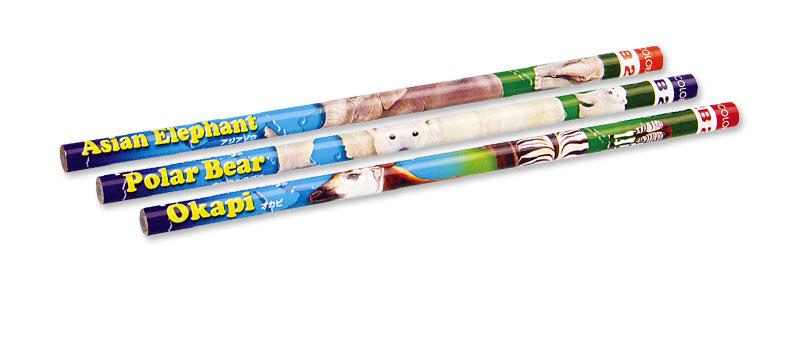 かきかた鉛筆3本セット2Bホッキョクグマ