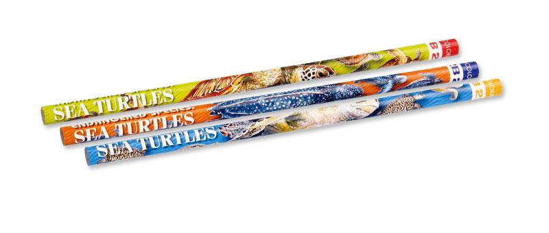 かきかた鉛筆3本セット2Bウミガメ