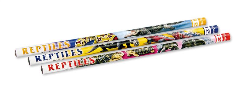 かきかた鉛筆3本セット2B爬虫類