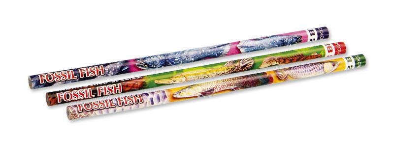 かきかた鉛筆3本セット2B古代魚