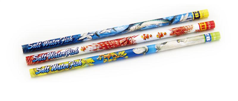 かきかた鉛筆3本セット2B海水魚