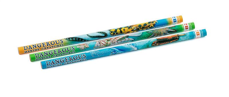 かきかた鉛筆3本セット2B 海の危険生物