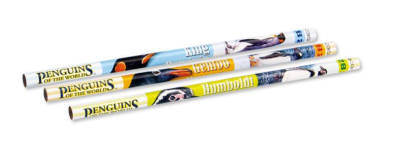 かきかた鉛筆3本セット2Bリアルペンギン