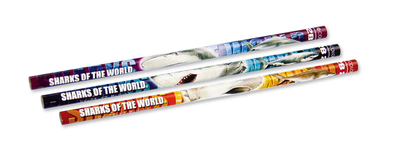 かきかた鉛筆3本セット2Bホホジロザメ
