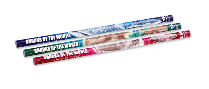 かきかた鉛筆3本セット2Bジンベエザメ