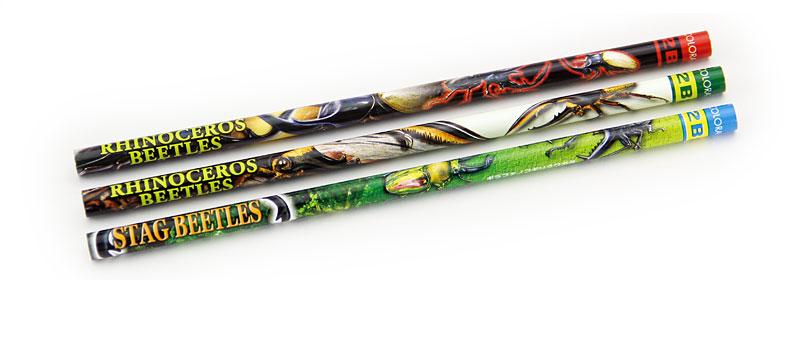 かきかた鉛筆3本セット2B昆虫類