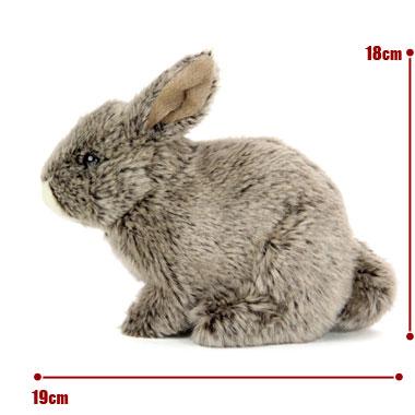 リアル動物ぬいぐるみ リアルアニマルベイビー ニホンノウサギ サイズ