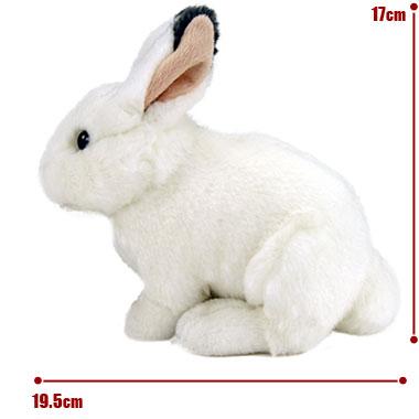 リアル動物ぬいぐるみ リアルアニマルベイビー ニホンノウサギ(冬毛) サイズ