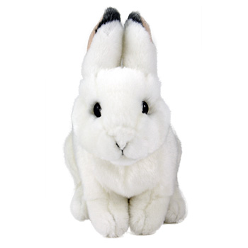 リアルアニマルベイビー・日本の動物シリーズ〜ニホンノウサギ(冬毛) 赤ちゃんぬいぐるみ