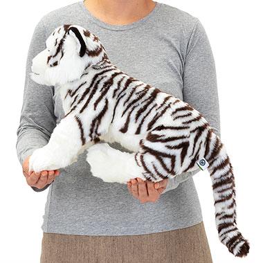 リアル 動物 生物 ぬいぐるみ リアルアニマルファミリー ホワイトタイガー 親 大きさ