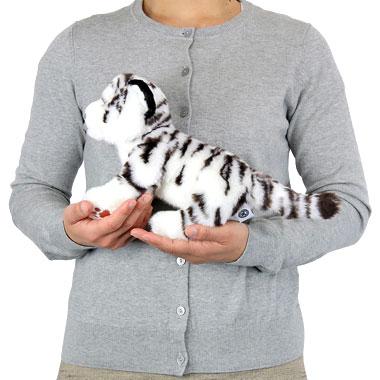 リアル 動物 生物 ぬいぐるみ リアルアニマルファミリー ホワイトタイガー 子 大きさ