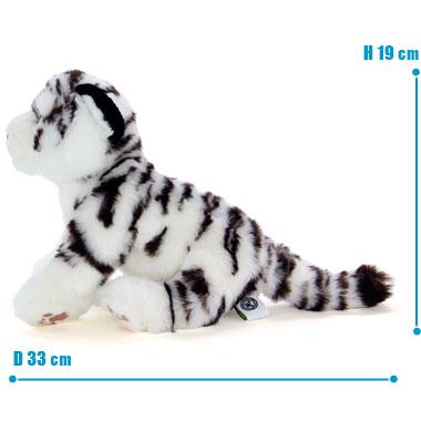 リアル 動物 生物 ぬいぐるみ リアルアニマルファミリー ホワイトタイガー 子 サイズ