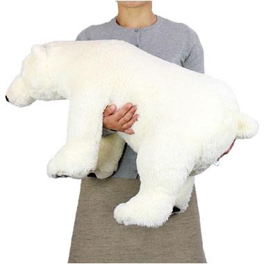 リアル 動物 生物 ぬいぐるみ リアルアニマルファミリー ホッキョクグマ LLサイズ 大きさ