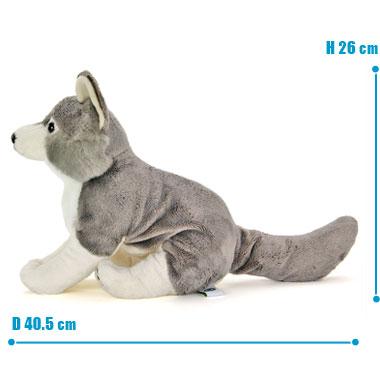 リアル 動物 生物 ぬいぐるみ リアルアニマルファミリー  オオカミ 親 サイズ