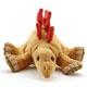 リアル恐竜物ぬいぐるみ ねそべりシリーズ ステゴサウルス 正面アップ