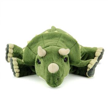 リアル恐竜ぬいぐるみ ねそべりシリーズ トリケラトプス