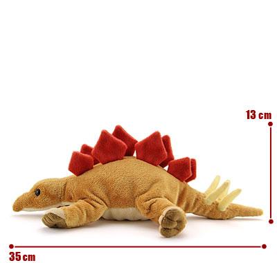 リアル動物ぬいぐるみ ねそべりシリーズ ステゴサウルス サイズ