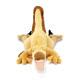 リアル恐竜物ぬいぐるみ ねそべりシリーズ ヴェロキラプトル 正面