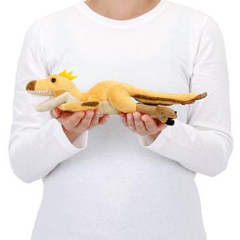 リアル恐竜ぬいぐるみ ねそべりシリーズ ヴェロキラプトル 大きさ