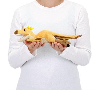 リアル動物ぬいぐるみ ねそべりシリーズ ヴェロキラプトル 大きさ