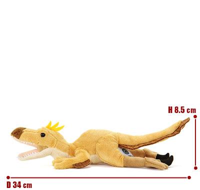 リアル動物ぬいぐるみ ねそべりシリーズ ヴェロキラプトル サイズ