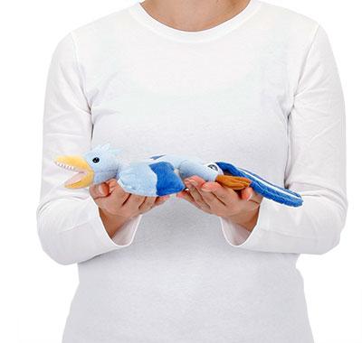 リアル動物ぬいぐるみ ねそべりシリーズ アーケオプテリクス(始祖鳥) 大きさ