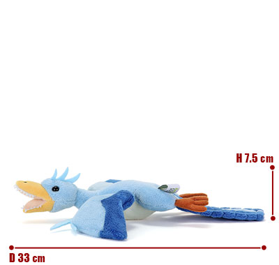 リアル動物ぬいぐるみ ねそべりシリーズ アーケオプテリクス(始祖鳥) サイズ