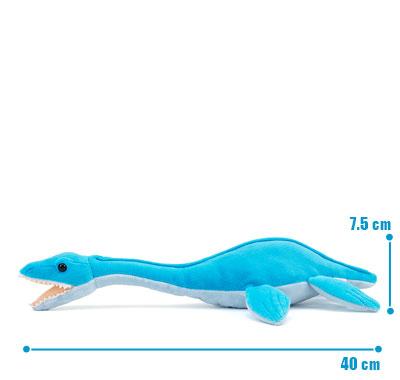 リアル海の爬虫類ぬいぐるみ ねそべりシリーズ フタバスズキリュウ サイズ