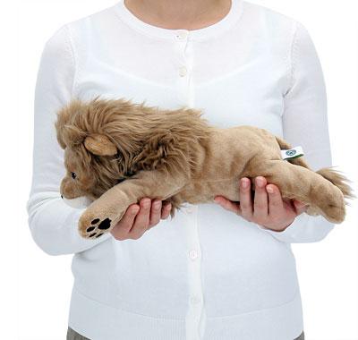 リアル動物ぬいぐるみ ねそべりシリーズ ライオン Lサイズ 大きさ