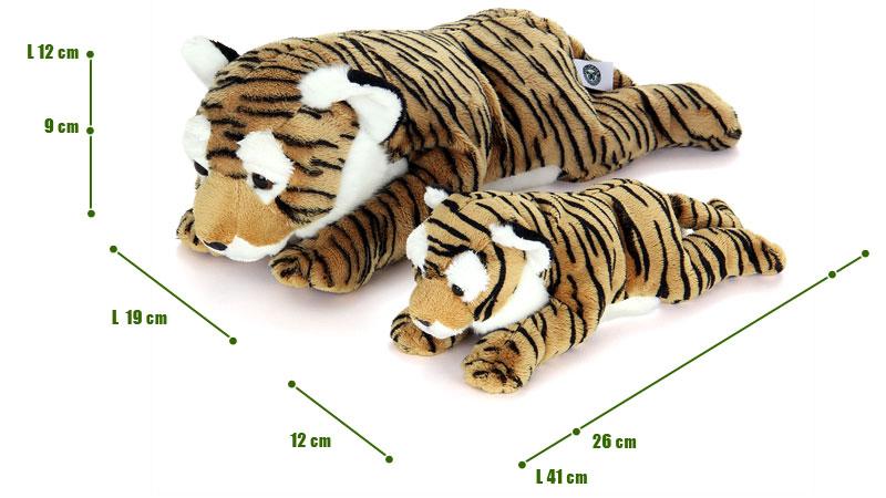 ねそべりシリーズ トラぬいぐるみ 2サイズ 比較