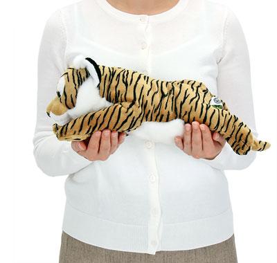 リアル動物ぬいぐるみ ねそべりシリーズ トラ Lサイズ 大きさ