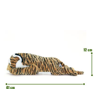 リアル動物ぬいぐるみ ねそべりシリーズ トラ L サイズ