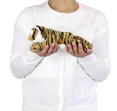 リアル動物ぬいぐるみ ねそべりシリーズ トラ 大きさ