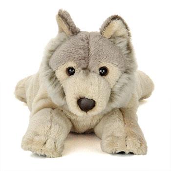 リアル動物ぬいぐるみ ねそべりシリーズ オオカミ