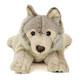 リアル動物ぬいぐるみ ねそべりシリーズ オオカミ 正面アップ
