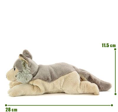 リアル動物ぬいぐるみ ねそべりシリーズ オオカミ サイズ