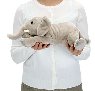 リアル動物ぬいぐるみ ねそべりシリーズ アフリカゾウ Lサイズ 大きさ