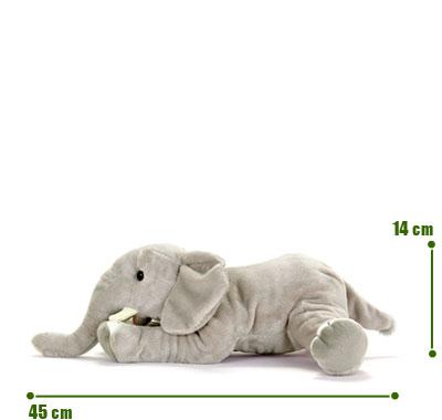 リアル動物ぬいぐるみ ねそべりシリーズ アフリカゾウ L サイズ